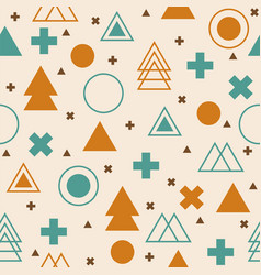 Abstract tribal background colorful geometric vector