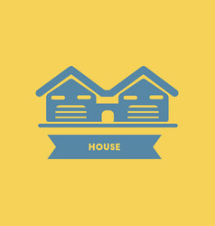 Two houses buildings vector