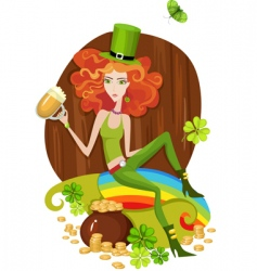 St Patrick's day card vector image