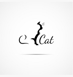 Cat logo vector