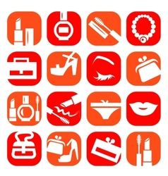 color fashion clothes icons vector image