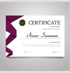 Certificate template - horizontal elegant vector