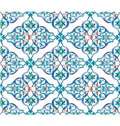 Blue ottoman tile vector