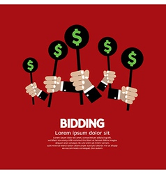 Bidding or auction concept vector