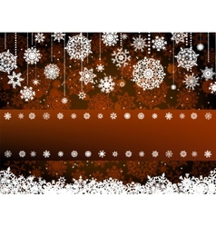 Retro christmas card Template EPS 8 vector image