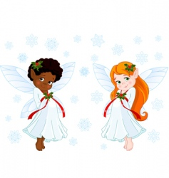 Christmas fairies vector image