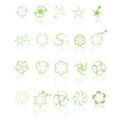 Green elements vector