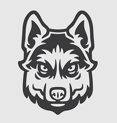 Huskies head logo mascot emblem vector