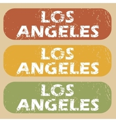 Vintage los angeles stamp set vector