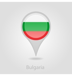 Bulgaria flag pin map icon vector