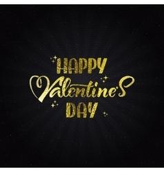 Valentines day - typographic calligraphic vector