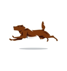 Running dog cartoon vector