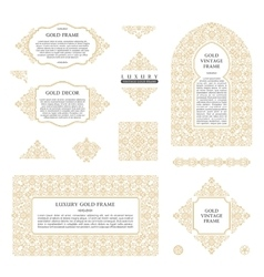 Arabic set of frames lines art design vector image