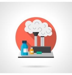 Chemistry laboratory color detailed icon vector