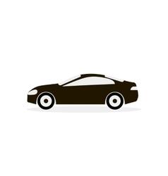 Car White Black Icon vector image