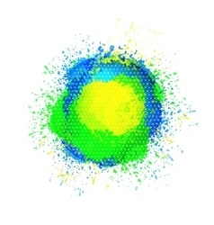 Abstract planet bright spots vector