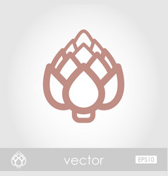 artichoke outline icon vegetable vector image vector image