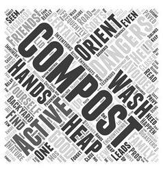 Avoiding composting dangers word cloud concept vector