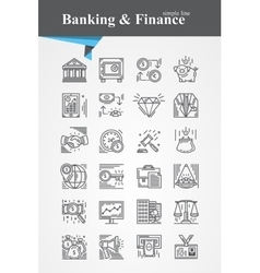 Banking and Finance icon vector image