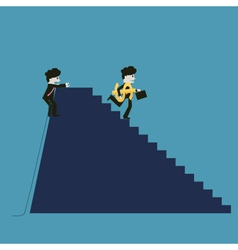 Businessman is successful while the competitor vector