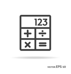 Calculator outline icon black color vector