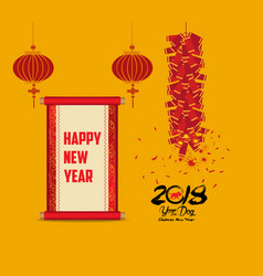 Chinese new year set of design elements vector