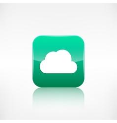 Cloud icon application button vector