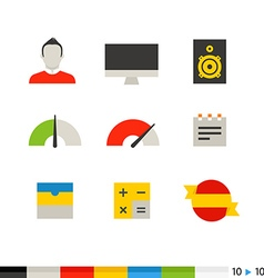 Different flat design web and application vector