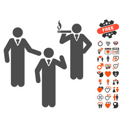 discuss standing persons icon with lovely bonus vector image vector image