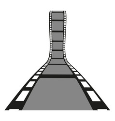 Filmstrip roll isolated on the white background vector