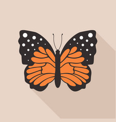 flat butterfly4 vector image vector image