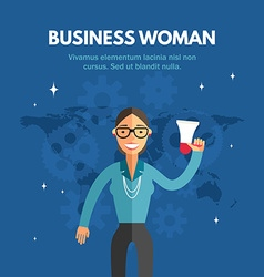 Flat Design of Busienss Woman Infographic Design vector image vector image