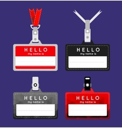 Flat name tag vector