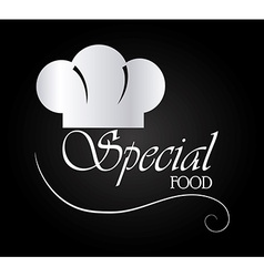 Food design over black background vector