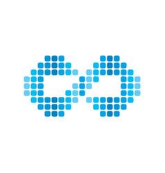 infinity dot logotype theme art vector image