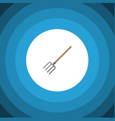 Isolated pitchfork flat icon hay fork vector