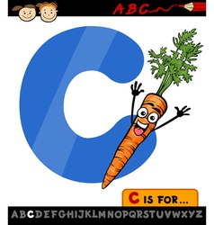 letter c with carrot cartoon vector image