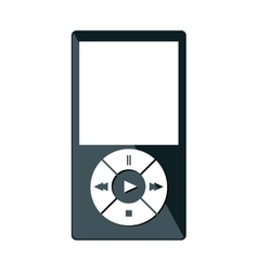 mp3 player isolated icon vector image