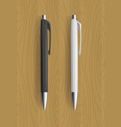 Realistic pens for identity design vector