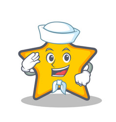 Sailor star character cartoon style vector