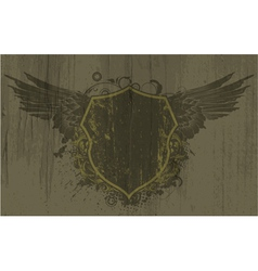 vintage emblem on grunge background vector image vector image