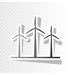 Wind turbines sign new year blackish icon vector