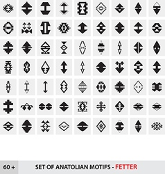 Set of Anatolian Turkish Motifs - Fetter vector image