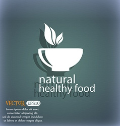 healthy food concept icon On the blue-green vector image