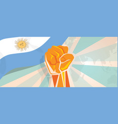 Argentina fight and protest independence struggle vector