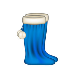 Snow boots in blue design vector