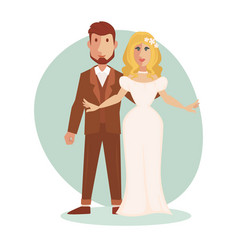 Young happy just married vector