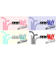 One way or another vector