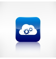 Cloud settings icon Application button vector image