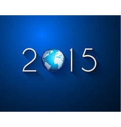 Original 2015 flat style new year modern vector